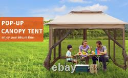 Livebest 10.5'x10.5' Pop Up Gazebo Canopy Tent Mesh Adjust Patio Party Outdoor