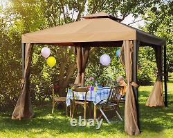 MASTERCANOPY Outdoor Patio Gazebo, Waterproof Soft-Top Steel Garden Gazebo Tent
