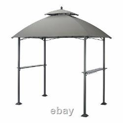 Mainstays Ledger 5 Ft x 8 Ft Outdoor Grill Durable Gazebo with Vented Canopy Top