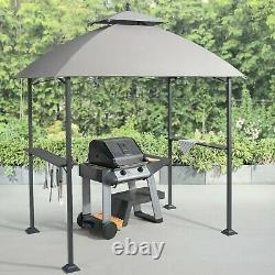 Mainstays Ledger 5' x 8' Outdoor Grill Gazebo with Canopy Top