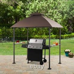 Mainstays Ledger 7.8W x 4.9D ft. Outdoor Canopy Top Grill Gazebo W