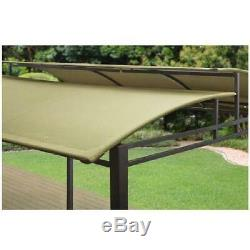 Metal Gazebo Canopy Pergola Tend Steel Frame 12x10 Outdoor Patio Shade