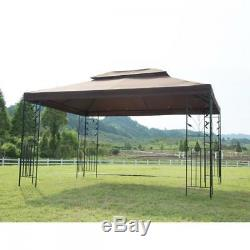 New 10'X 10' Outdoor Gazebo Steel frame Vented Garden Gazebo Canopy
