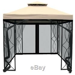 New Outdoor Garden Marquee Canopy 3x3m Heavy Duty Steel Cream Gazebo Party Tent