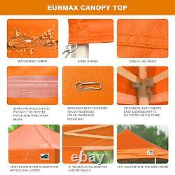 Orange 10x10 Ez Pop Up Canopy Outdoor Party Activity Tent Marquee Patio Gazebo