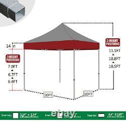 Orange 10x10 Pop Up Canopy Outdoor Party Weeding Patio Gazebo Beach Tent