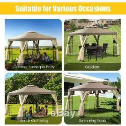 Outdoor 10x10 Gazebo Canopy Shelter Awning Tent Patio Garden New