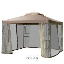 Outdoor 10x10 Gazebo Screw-free Structure Canopy Shelter Awning Tent Garden