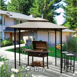 Outdoor BBQ Grill Gazebo Canopy 8 x 5 ft Steel Metal Frame Backyard Cover Tent