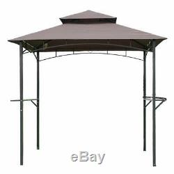 Outdoor BBQ steel frame Grill Gazebo Canopy tent Backyard shade shelter vented