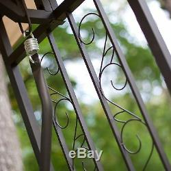 Outdoor Canopy Gazebo Patio Resin Wicker Swing Home Living Seating Furniture