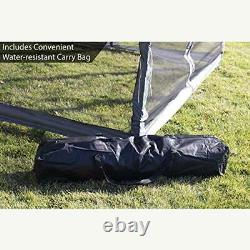Outdoor Gazebo Canopy 9.5'x 9.5' Pop Up Party Tent Mesh Mosquito Net Patio Tan