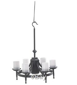 Outdoor Gazebo Chandelier Patio Area Hanging Light Fixture Battery Operated