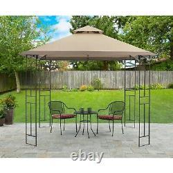 Outdoor Gazebo Cover Shade Canopy Steel Frame 10x10' Patio Deck Backyard Shelter