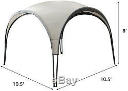 Outdoor Gazebo Heavy Duty Steel Frame Beige Canopy BBQ Tent Pergola Portable