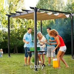 Outdoor Grill Gazebo BBQ Party Grape Pool Canopy Tent with Sun Protection Cover