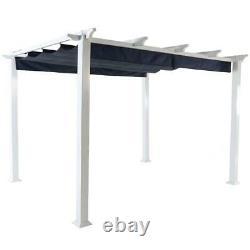Outdoor Patio Gazebo Pergola 10'x12' Canopy Party BBQ Garden Aluminum Yard White