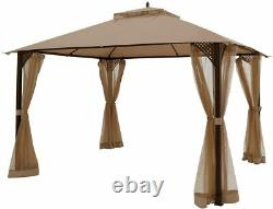 Outdoor Patio Soft Top Gazebo Gazebo Canopy Shelter Mosquito Net Shed UV Proof