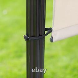 Outdoor Steel Pergola Gazebo Patio Sun Shade Awning Retractable Sliding Canopy