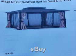 Outdoor gazebo 10 x 12 hardtop disassemble and pick up onlygreat deal