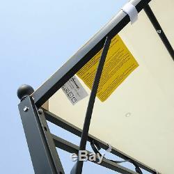Outsunny 10 x 10 Foot Steel Outdoor Pergola Patio Canopy Gazebo Cream White
