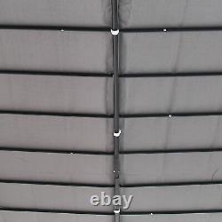 Outsunny 10 x 10 Foot Steel Outdoor Pergola Patio Canopy Gazebo Grey