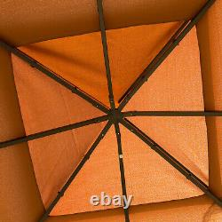 Outsunny 10 x 10 Outdoor Patio Gazebo with Polyester Curtains and Netted Screens