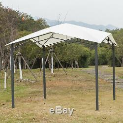 Outsunny 10' x 10' Soft Top Outdoor Canopy Gazebo Steel for Events, White