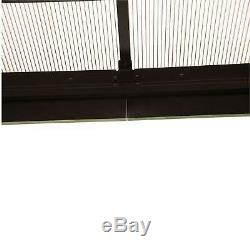 Outsunny 12 x 10 Outdoor Steel Plastic Hardtop Canopy Gazebo Beige 10 x 12