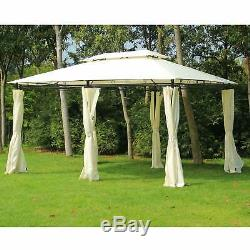 Outsunny 13' x 10' Outdoor 2-Tier Steel Frame Pop-up Shade Cream 10 x 13