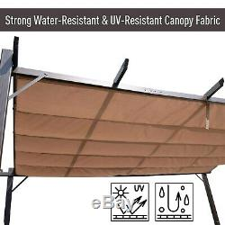 Outsunny Steel Outdoor Backyard Patio Canopy Cover 10' x Brown 10 x 13