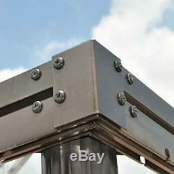 PURPLE LEAF 10' X 12' Steel Frame Outdoor Gazebo Garden Canopy with 10' X 12