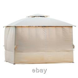 Patio Gazebo Canopy 142''x127''Outdoor 2Tier Tent Shelter Awning Steel withNetting