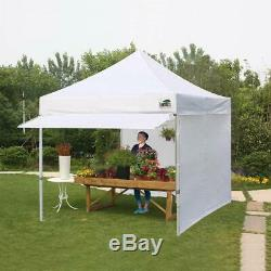 Pop Up Canopy 10x10 Commercial Outdoor Instant Party Tent With4 Side Walls &Awning