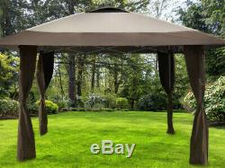 Portable Gazebo Steel Frame 13 x 13 Garden Shade Tent Vented Roof Instant Canopy
