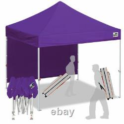 Purple 10x10 Smart Pop Up Canopy Outdoor Event Craft Show Gazebo Party Tent