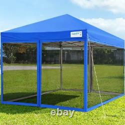 Quictent 10'x10' Commercial Pop up Gazebo Outdoor Mesh Party Folding Canopy Tent