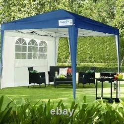 Quictent 10'x10' EZ Pop Up Canopy Outdoor Patio Blue Wedding Party Tent Gazebo