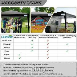 Quictent 10'x10' EZ Pop Up Canopy Party Tent Outdoor Commercial Folding Gazebo