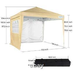 Quictent 10x10 Outdoor Wedding Party Tent Gazebo EZ Pop Up Canopy Patio Shelter