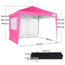 Quictent 10x10 ft Outdoor Folding Gazebo Pop Up Canopy Heavy Duty Party Tent US