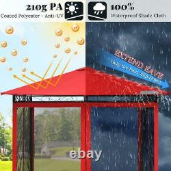 Quictent 10x10ft Outdoor Mesh Mosquito Patio Gazebo Canopy Party Wedding Tent US