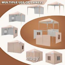 Quictent 8'x8' Canopy Folding Gazebo EZ Pop Up Outdoor Wedding Party Tent Shade
