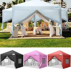 Quictent 8'x8' Wedding Pop Up Canopy Party Tent Outdoor Folding Gazebo With Bag US