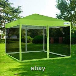Quictent EZ Pop Up Canopy 10x10 Outdoor Gazebo Mesh Folding Party Instant Tent