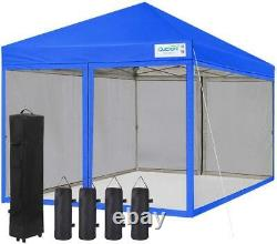 Quictent EZ Pop Up Canopy 10x10ft Outdoor Commercial Sunshade Party Tent Gazebo