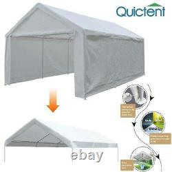 Quictent Garage White 10'x20' Carport Outdoor Canopy Car Tent Shelter Gazebo