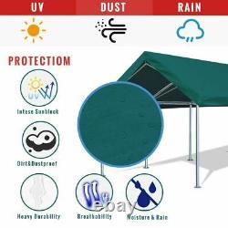 Quictent Green Carport 10x20 Outdoor Canopy Heavy Duty Car Tent Gazebo Garage US