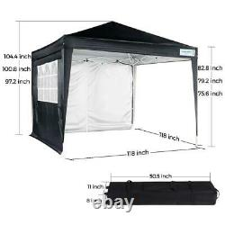 Quictent Heavy Duty Canopy Pop Up Tent Outdoor 10x10 Pavilion Event Party Gazebo