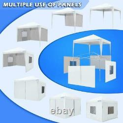 Quictent Outdoor White 8'x8' EZ Pop Up Canopy Party Wedding Patio Gazebo Shelter